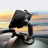 HORDZOOM 车载手机支架支架强力夹防滑 360 度旋转 HUD 仪表板手机支架适用于汽车兼容 iPhone 三星 Galaxy LG Nokia 等