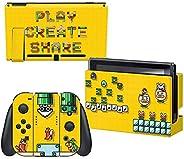 "Nintendo Switch控制器装置皮肤和屏幕保护膜套装 - Mario Maker""Here We Go"" - Nintendo Switch"