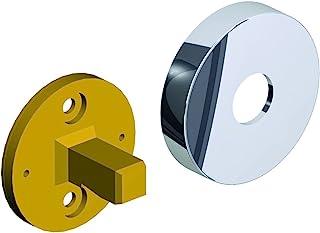 BRAVAT Varuna,替换产品墙壁适配器,带面板,黄铜,铬,直径45毫米