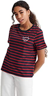 Superdry 极度干燥 女士 Heritage 条纹 T 恤