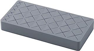 Emoly 硅胶唇膏架,高级化妆收纳盒,用于刷唇眼化妆铅笔瓶,24 个方形化妆展示盒(灰色)