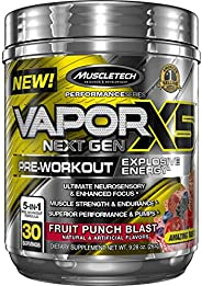 Muscletech Performance系列 Vapor X5,新一代鍛煉前補充粉,勁爆水果味,30份
