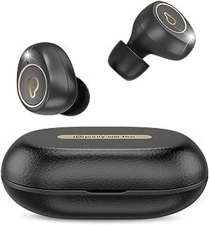 Purity True 无线耳塞 One Pro 带沉浸式声音,蓝牙 5.0 耳机入耳式带充电盒 轻松配对立体声通话 / 内置麦克风 / IPX5 / 泵低音,适用于运动、锻炼、健身房