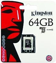 Kingston Digital 8GB microSDHC Class 10 UHS-I 45MB/s 读卡带 SD 适配器 (SDC10G2/8GB)SDC10G2/64GB  单包 64 GB
