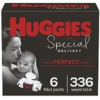 Huggies Special Delivery 低*性嬰兒濕巾,無香型,6 個翻蓋包裝(共 336 張濕巾)