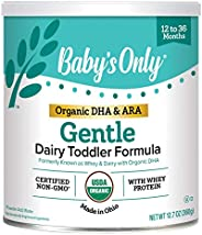 Baby's Only Organic Non-GMO Dairy Whey Protein with DHA & ARA Todder Formula,