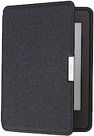 亚马逊Kindle Paperwhite真皮保护套(适用于第5代、第6代和第7代),玛瑙黑