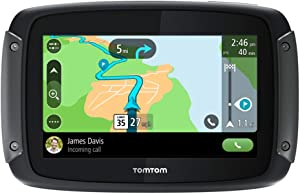 TomTom Rider 550 摩托车 GPS 导航设备 4.3 英寸(约 11.4 厘米) 带世界地图、摩托车特定绕线和山地路 通过WiFi更新、交通和速度摄像头兼容 Siri 和 Google Now