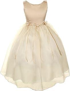 12色绸缎紧身胸衣春夏花朵女孩表演礼服薄纱连衣裙 infant-14