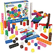 Learning Resources MathLink Cube 大型建筑玩具,富有想象力的游戏,学习数学技能,200个多维数据集,适合5岁以上的人群