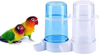 宠物鸟喂食器,13.5 盎司(约 382.7 克)鹦鹉饮水器,鸟笼悬挂自动饮水器,适用于 Parakeet Budgie Lovebirds Cockatiel (2 件)