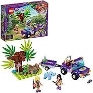 LEGO Friends 大象丛林救援 41421 冒险积木套装;动物救援玩具组合,配有玩具卡车和拖车,以及朋友艾玛和斯蒂芬妮,2020 年新款(203 件)