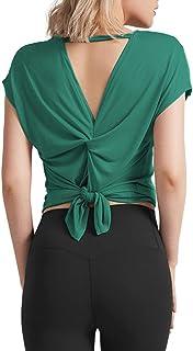 OYANUS 女式睡衣套装短袖条纹 V 领休闲睡衣套装