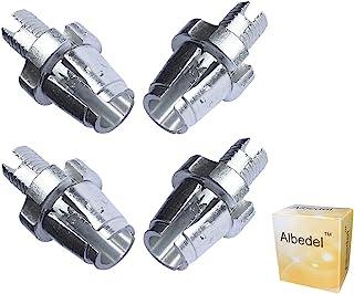 Albedel 4 件 7mm M7 自行车刹车手柄紧固件调整桶螺丝螺栓 MTB 自行车铝合金适用于山地自行车公路自行车 银色