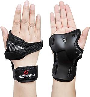 Junsen 护腕适用于滑板滚轮,滑冰护腕,成人防护护腕,防护装备护腕,滑冰滑板车成人女士男士儿童