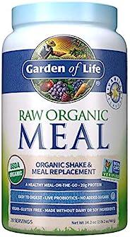 Garden of Life 代餐香草粉,28份,植物蛋白粉原料,素食主义,无麸质*包装可能会有所不同*,34.2盎司,969克