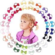 2 英寸(约 5.1 厘米)女婴蝴蝶结发带 - 弹性幼儿发带,儿童发饰