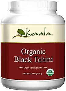 Kevala Organic Black Sesame Tahini, 3.5 Pound