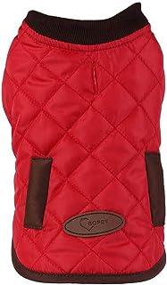 Bopet 时尚环保舒适温暖冬季,小号和中号狗夹克 S-M 保暖狗服装防寒狗外套 红色 中