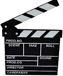 zmgmsmh 木制拍板导演电影剪切动作场景板夹板板板板板板板(小号-黑色)