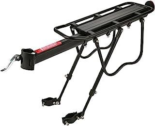 Zerone 自行车座椅架,铝合金可调节自行车行李架,自行车装备自行车行李架,用于自行车货物