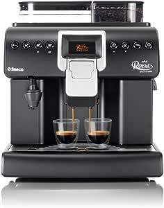 Saeco Royal 大号奶油独立式全自动咖啡机 - 独立式,过滤咖啡,2.2 升,铸厂内置,1850 W,黑色,银色
