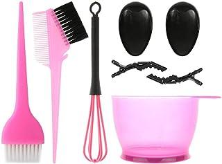 8 件套*剂套装,带*碗*染色刷*着色工具套件*刷工具包*刷工具,适用于沙龙家庭着色染料套件(粉色)