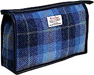 Vagabond Bags Harris Tweed Check 化妆包 中蓝色 中蓝色