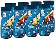 Gerber 嘉宝 Puffs 谷物零食 香蕉和草莓苹果口味 8盒