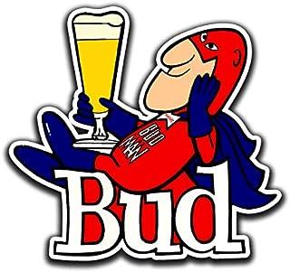 Bud Man Beer 复古乙烯基贴纸 //任何尺寸/BudMan Budweiser 乙烯基贴花汽车保险杠卡车车窗吧冰箱贴