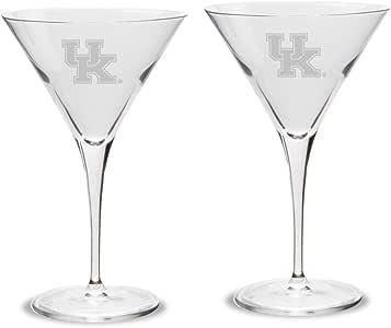 NCAA 肯塔基大学野猫队Luigi Bormioli Titanium Martini 玻璃 - 2 件套,透明色,283.5 克