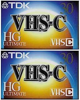 TDK VHS-C HG Ultimate 2 件装