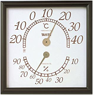 TANta 温湿度计 模拟 棕色 5485 办公室滑雪 壁挂式 办公室用