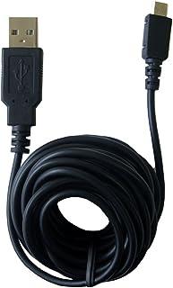 GetPower 超长 12 英尺 USB 充电和同步线适用于微型 USB 手持电子产品 - 简约包装 - 黑色