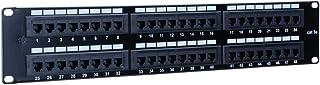 12/24/48 端口 Cat5/5e 非屏蔽壁装机架安装接插板,向后兼容 CAT 3/4/5 电缆 48 Port