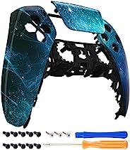 eXtremeRate 蓝色星云触摸板前壳适用于 PS5 控制器,DIY 替换外壳适用于 PS5 控制器,定制触控板盖面板,适用于 Playstation 5 控制器