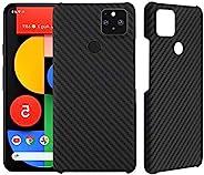 YTF 碳素适用于 Google Pixel 5 碳纤维保护套,防摔超薄抓握防刮芳纶碳纤维外壳适用于 Pixel 5 (2020) 手机壳 - 哑光黑色