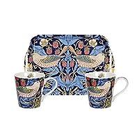 """Morris & Co for Pimpernel """"草莓树""""马克杯和托盘套装,蓝色"""