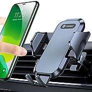 VICSEED 车载手机支架,[*不会滑动和掉落] 通风口通用手机支架适用于汽车免提轻松夹在车内的支架兼容所有苹果 iPhone Android 智能手机