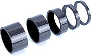 TuoTu 自行车耳机垫片,5 件全碳纤维3/5/10/15/20 毫米 1 1/8 英寸山地自行车耳机叉垫圈