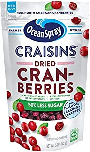Ocean Spray Craisins蔓越莓干,少糖,141.5克(12包)