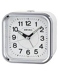 Seiko 鬧鐘 模擬 中性款白色 QHE130 W
