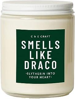 C&E Craft Smells Like Draco 香味蜡烛 – 桃花心木和苹果*大豆蜡蜡烛 – 令人愉悦的浓郁香味 – 带金属盖的蜡烛罐,适用于家庭、办公室、冥想 – 8 盎司(约 236.6 克)蜡烛