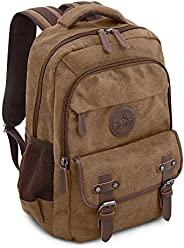 笔记本电脑背包适用于学校徒步工作棉带 15.6 英寸袖子 | 耐用可靠