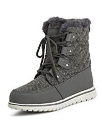 POLAR 产品女式防水耐用雪冬季登山羊毛短靴