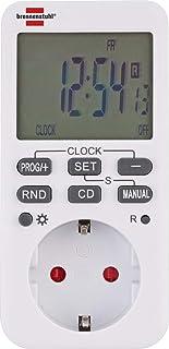 Brennenstuhl Comfort-Line 数字周定时器,数字定时器插座(适用于室内的周定时器,倒计时功能和增强触摸保护)白色