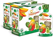 Happy Baby Organic Stage 2 Baby Food Simple Combos Spinach Mango & Pear, 4 Ounce Pouch (Pack of 16) Reseal