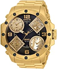 Invicta 男式 Shaq 日本石英手表,不锈钢表带,金色,30(型号:33867)