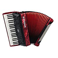 Hohner A16831S Bravo Line Facelift III -120 BASS Chromatic Piano Accordion with Gig Bag,红色
