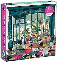 Galison Wonder & Bloom 拼图 – 一家当地植物商店的彩色场景–具有挑战性,非常适合家庭娱乐,多色,500 片,20 x 20 英寸(约 50.8 x 50.8